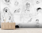 Arabs, 1881-82 (oil on canvas) (b/w photo) mural wallpaper living room preview