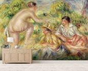 Young Girls in the Countryside, 1916 (oil on canvas) wall mural living room preview