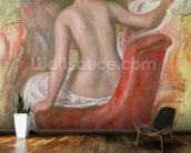 Nude in an Armchair, 1900 (oil on canvas) wallpaper mural kitchen preview