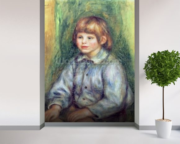 Seated Portrait of Claude Renoir (1901-81) 1905-08 (oil on canvas) wall mural room setting