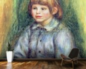 Seated Portrait of Claude Renoir (1901-81) 1905-08 (oil on canvas) wall mural kitchen preview