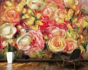 Roses, 1915 (oil on canvas) mural wallpaper kitchen preview