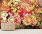 Roses, 1915 (oil on canvas) mural wallpaper living room preview