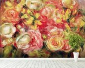 Roses, 1915 (oil on canvas) mural wallpaper in-room view