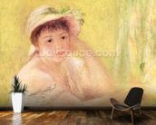 Woman in a Straw Hat, 1879 (oil on canvas) wall mural kitchen preview