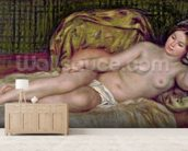 Large Nude, 1907 (oil on canvas) mural wallpaper living room preview