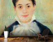 Woman Smiling, 1875 (oil on canvas) wall mural kitchen preview