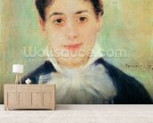 Woman Smiling, 1875 (oil on canvas) wall mural living room preview