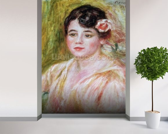 Portrait of Adele Besson, 1918 (oil on canvas) mural wallpaper room setting