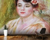 Portrait of Adele Besson, 1918 (oil on canvas) mural wallpaper kitchen preview