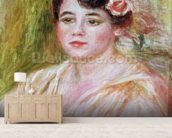 Portrait of Adele Besson, 1918 (oil on canvas) mural wallpaper living room preview