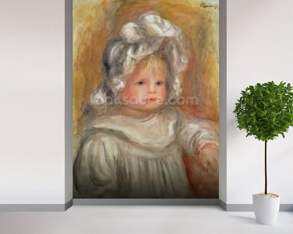 Portrait of a Child wallpaper mural room setting
