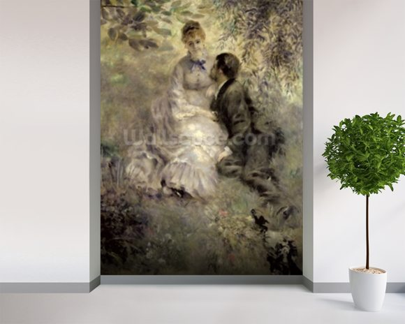 The Lovers, c.1875 (oil on canvas) mural wallpaper room setting