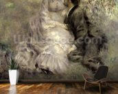 The Lovers, c.1875 (oil on canvas) mural wallpaper kitchen preview