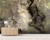 The Lovers, c.1875 (oil on canvas) mural wallpaper living room preview