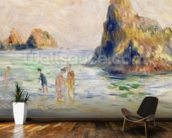 Moulin Huet Bay, Guernsey, c.1883 (oil on canvas) wallpaper mural kitchen preview
