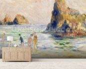 Moulin Huet Bay, Guernsey, c.1883 (oil on canvas) wallpaper mural living room preview