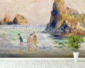 Moulin Huet Bay, Guernsey, c.1883 (oil on canvas) wallpaper mural in-room view