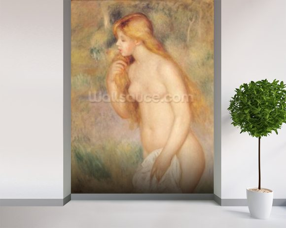 Standing Bather, 1896 (oil on canvas) mural wallpaper room setting
