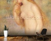 Standing Bather, 1896 (oil on canvas) mural wallpaper kitchen preview