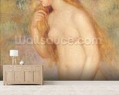 Standing Bather, 1896 (oil on canvas) mural wallpaper living room preview