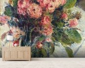 Moss-Roses, c.1890 (oil on canvas) mural wallpaper living room preview