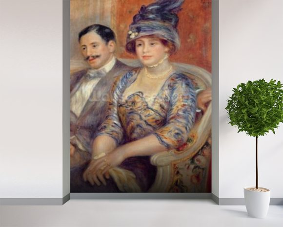Monsieur et Madame Bernheim de Villers, 1910 (oil on canvas) wallpaper mural room setting