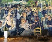 Ball at the Moulin de la Galette, 1876 (oil on canvas) wall mural kitchen preview