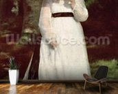 Portrait of Lise, 1867 (oil on canvas) wallpaper mural kitchen preview