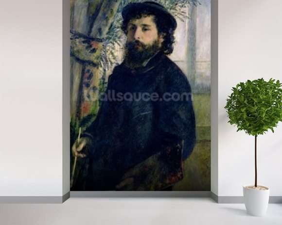 Portrait of Claude Monet (1840-1926) 1875 (oil on canvas) wall mural room setting
