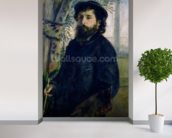 Portrait of Claude Monet (1840-1926) 1875 (oil on canvas) wall mural in-room view