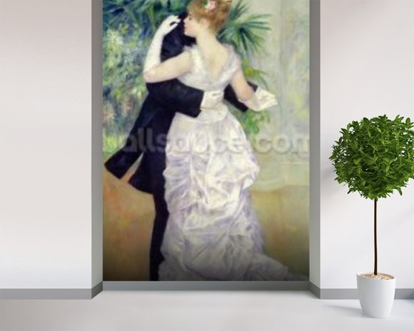 Dance in the City, 1883 (oil on canvas) wall mural room setting