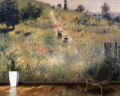 The Path through the Long Grass, c.1875 (oil on canvas) wallpaper mural kitchen preview