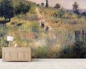 The Path through the Long Grass, c.1875 (oil on canvas) wallpaper mural living room preview
