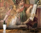 Young Girls at the Piano, 1892 (oil on canvas) mural wallpaper kitchen preview