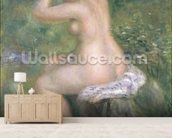 A Bather, c.1885-90 (oil on canvas) wallpaper mural living room preview