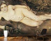 A Nymph by a Stream, 1869-70 (oil on canvas) mural wallpaper kitchen preview