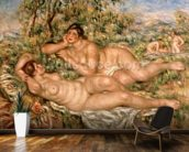 The Bathers, c.1918-19 (oil on canvas) wallpaper mural kitchen preview
