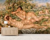 The Bathers, c.1918-19 (oil on canvas) wallpaper mural living room preview