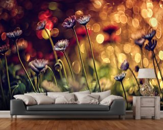 Fire Flowers wallpaper mural