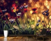 Fire Flowers wallpaper mural kitchen preview