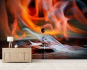 Burning Drop mural wallpaper living room preview