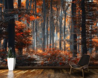 Painting Forest wallpaper mural