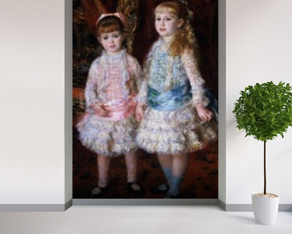 Pink and Blue or, The Cahen dAnvers Girls, 1881 (oil on canvas) wallpaper mural room setting