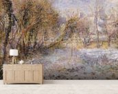 Snowy Landscape (oil on canvas) wall mural living room preview