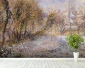 Snowy Landscape (oil on canvas) wall mural in-room view