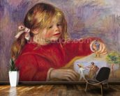 Claude Renoir (b.1901) at Play, 1905 (oil on canvas) wallpaper mural kitchen preview