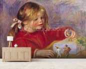 Claude Renoir (b.1901) at Play, 1905 (oil on canvas) wallpaper mural living room preview