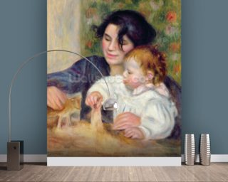 Gabrielle and Jean, c.1895-6 (oil on canvas) mural wallpaper
