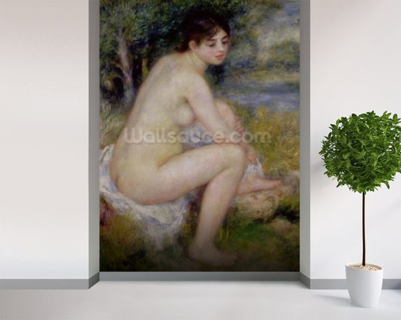 Nude in a Landscape, 1883 (oil on canvas) wall mural room setting